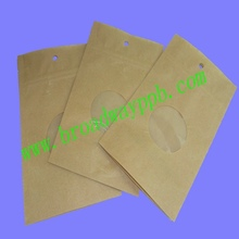 custom printed ziplock kraft paper pouches for tobacco