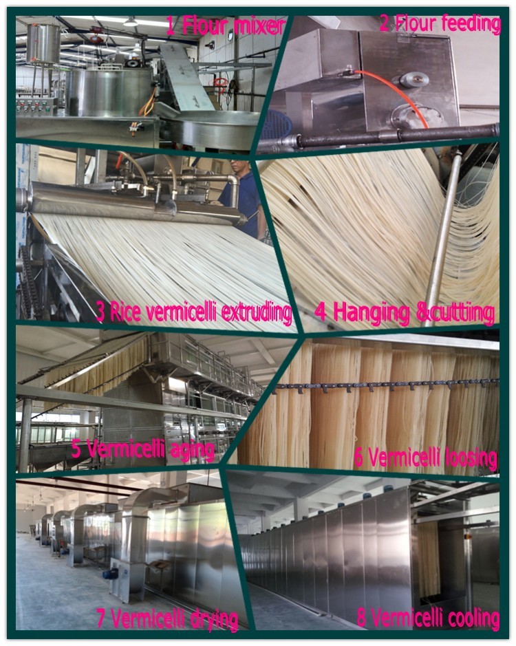 15 tons/day Industrial Stick Rice Noodle Machine/ Automatic  rice noodles machine production line