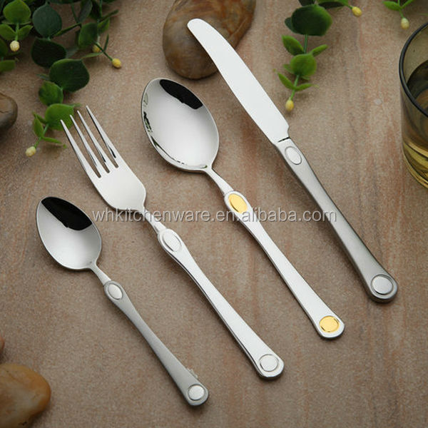 New Style Royal Stainless Steel Cutlery Flatware Set For Western Dinner
