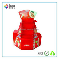 fashion red advertising paper display standee for toothbrush