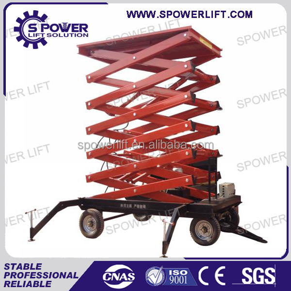 4m-18m mobile scissor lift for warehouse lift platform/construction elevator