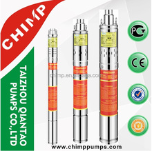CHIMP/QIANTAO 2 inch stainless steel screw submersible well pump 0.5HP, Bomba sumergible de 2 pulgadas