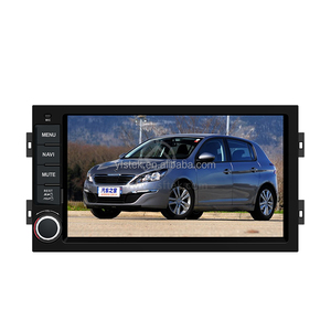 China Factory 2 Din Car DVD GPS for Peugeot 407 Multimedia with Radio Steering Wheel Control