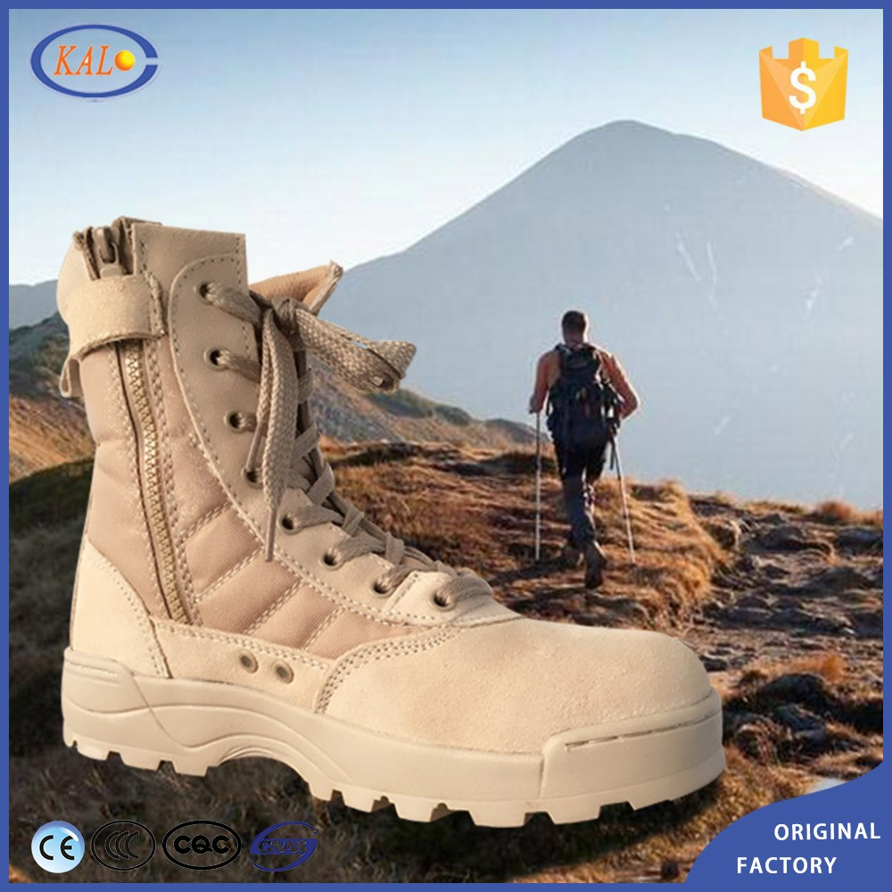 Wholesale Combat Army Desert Men Genuine Leather Shoes Boots Military