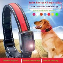 Solar Energy Charge With USB Recharg Flashing dog collars dog products