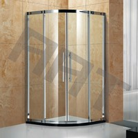 90x90 double stainless steel shower cabin door