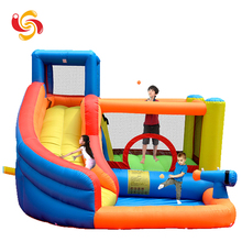Factory wholesale cheap price customized size color PVC Material giant inflatable bouncy combo castle