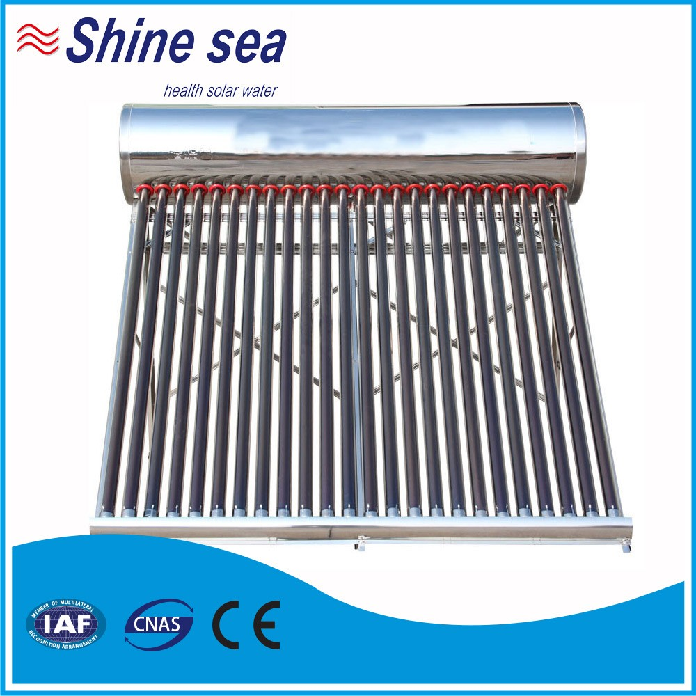 Hot water system non-pressurized solar water heaters 300 liters stainless steel