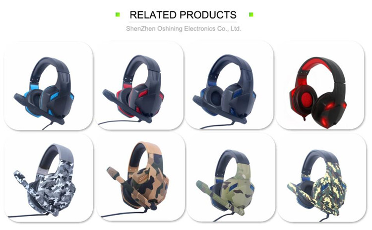 Professional strong bass stereo gaming headphone for pc computer game with microphone