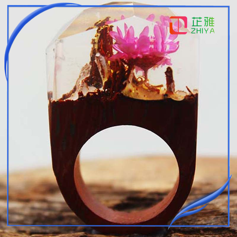 New design handmade secret magical wood resin rings for womens