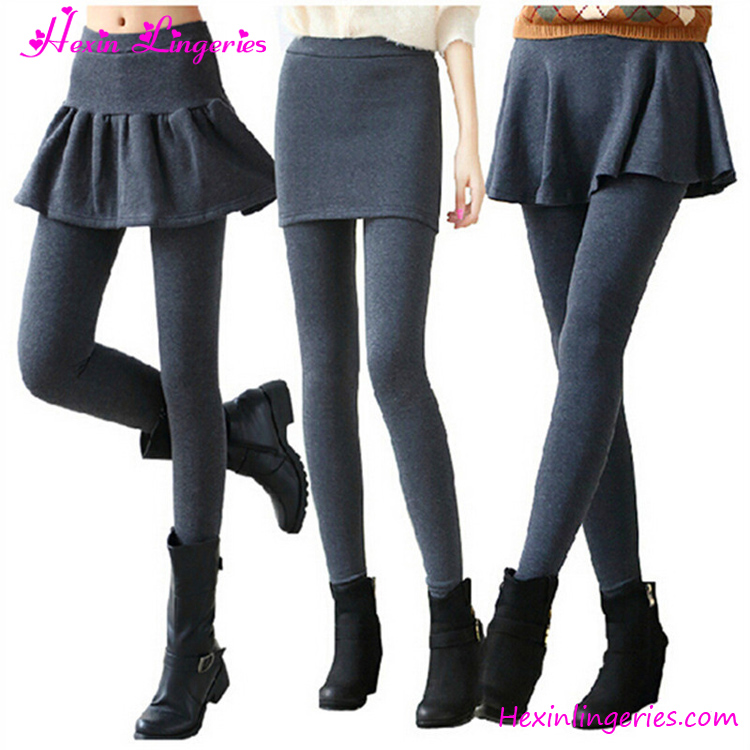 Plus Size Winter Warm Cheap Price Women Cotton Fake Skirt Leggings