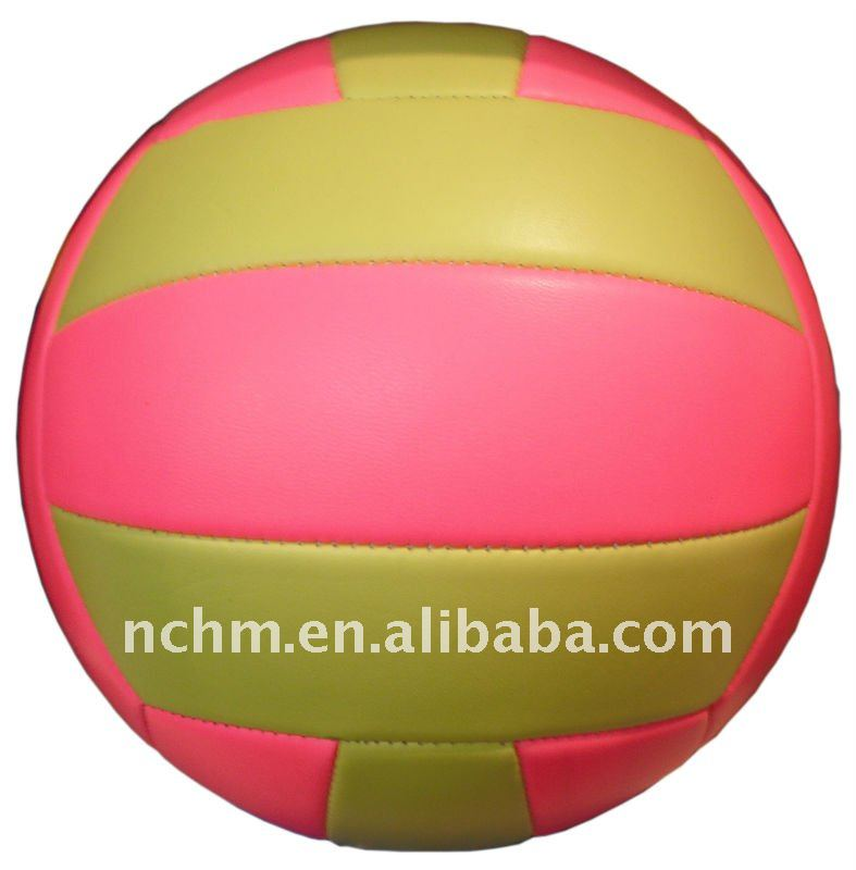 Size5 machine-stiched PVC foam colorful promotional beach volleyball
