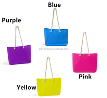 Waterproof Silicone Rubber Tote Bag Beach Handbag For Woman