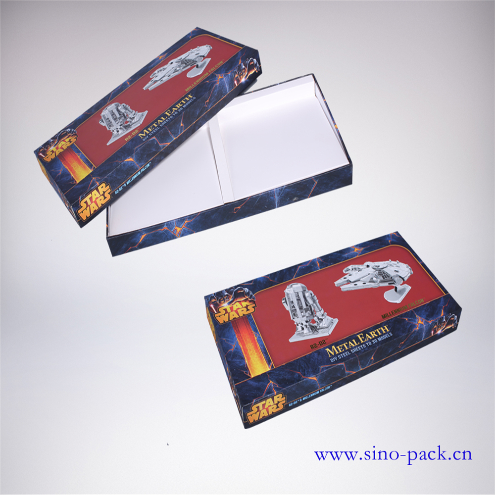 300 gsm paper box packaging laminated material toy sheet model box
