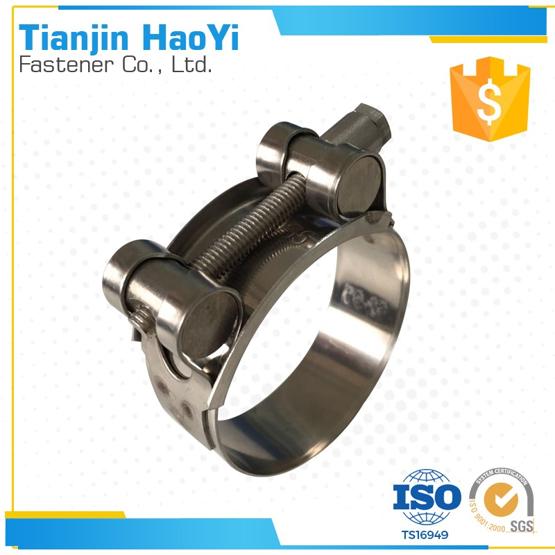 stainless steel single bolt heavy duty hanging pipe clamp