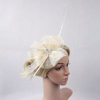 2016 New Design Fashion Sinamay Fabric Mini Party Fascinator Hat With HairClip