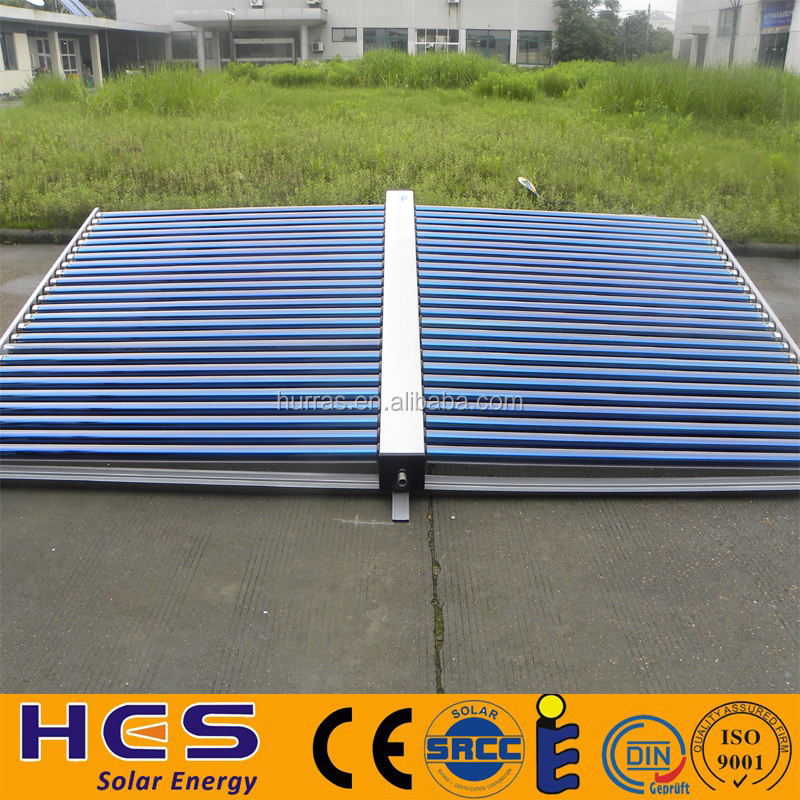 HFM model Non Pressurized vaccum tube Solar Collector/Parabolic Trough Solar Collector