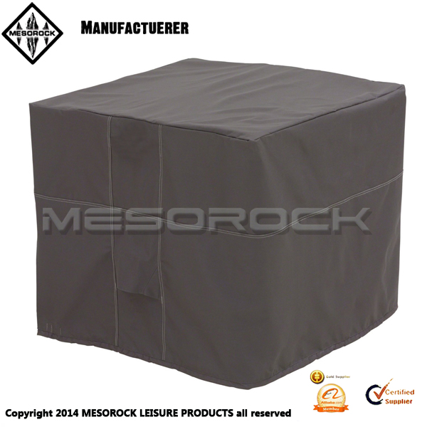 Decorative full square outdoor air conditioner cover