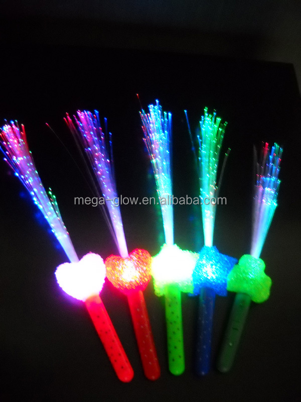 LED flashing fibre optic stick for Saint Partick Day