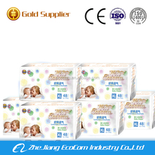 Ultra thin disposable baby diaper with leaking guard