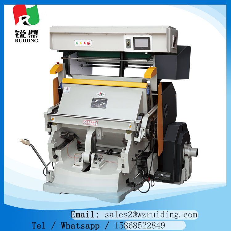 popular paper carton box hot stamping and embossing machine for piceures and logo