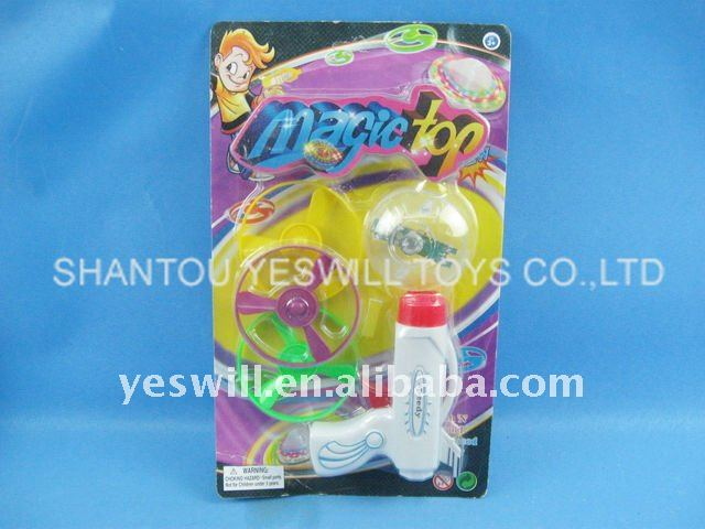magic flashing top&disc, spinning top&disk gun, promotional toys