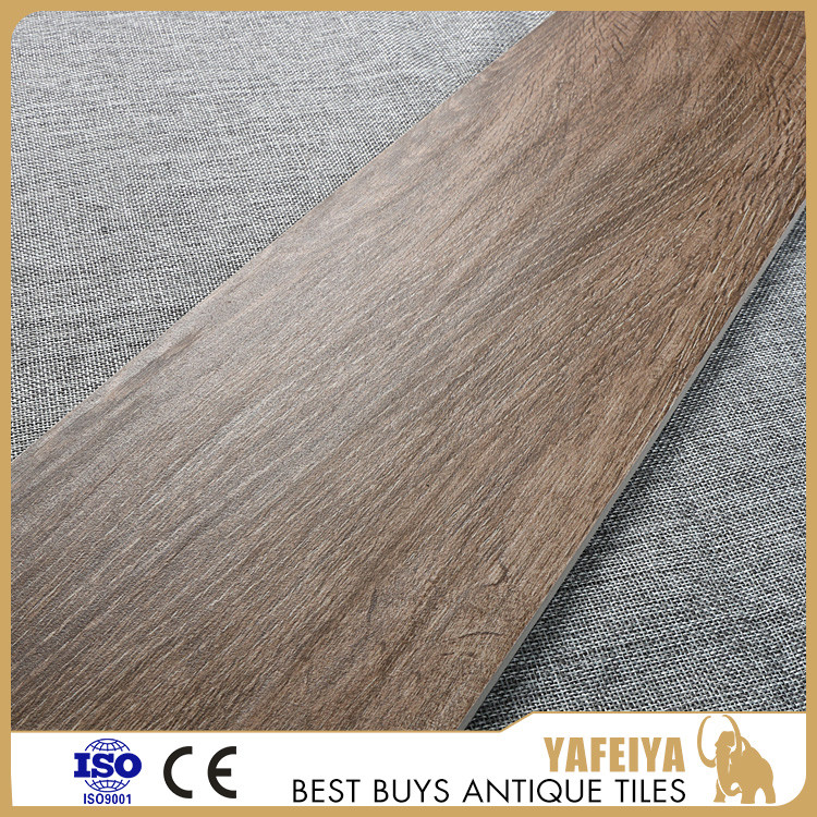 Chinese manufacture wood design tile , rustic wood tile matte for floor 165x997mm