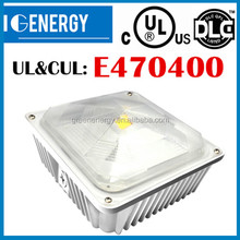 35W,60W,80W,140w 105lm/watt good looking, high quality,UL ETL,DLC listed,led gas station canopy lights petrol station