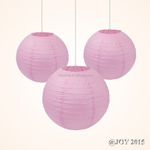 "Pink Round Paper Lantern Paper Lampion sizes 3""-36"" for Easter Baby Shower Love Valentine's Day Wedding Decoration"