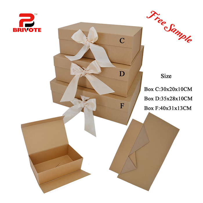 Custom clothing paper magnetic flat folding gift packaging box