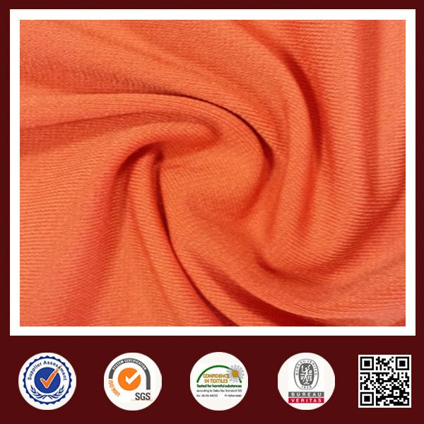 Feimei ity span solid jersey polyester sports knitted fabric