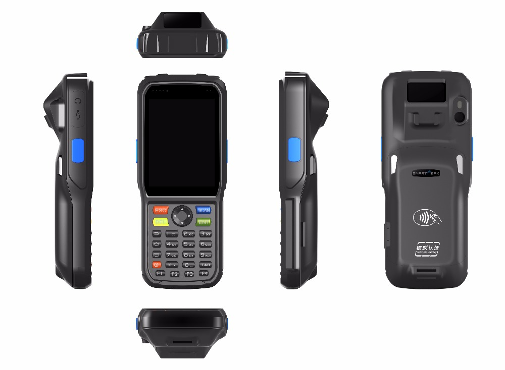 Android pos terminal support 3G/<strong>WiFi</strong>/RFID reader/Barcod scanner/build-in thermal printer/PSAM with rechargeable battery