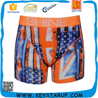 Stars and stripes US flag print mens boxer newest design shorts underwear