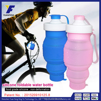 Wholesale Customizable Heat-Resistant Leakproof Silicone Foldable Travel/Cycling/Bicycle/Bike/Gym Sports Bottle