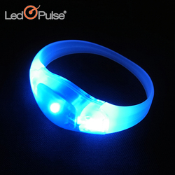 Factory Wholesale Custom Printed Motion Sense Party Concert Decoration led bracelet logo for Christmas party