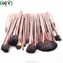 Best Seller Synthetic Hair Professional Rose Gold 21PC Makeup Brush Set With PU Bag