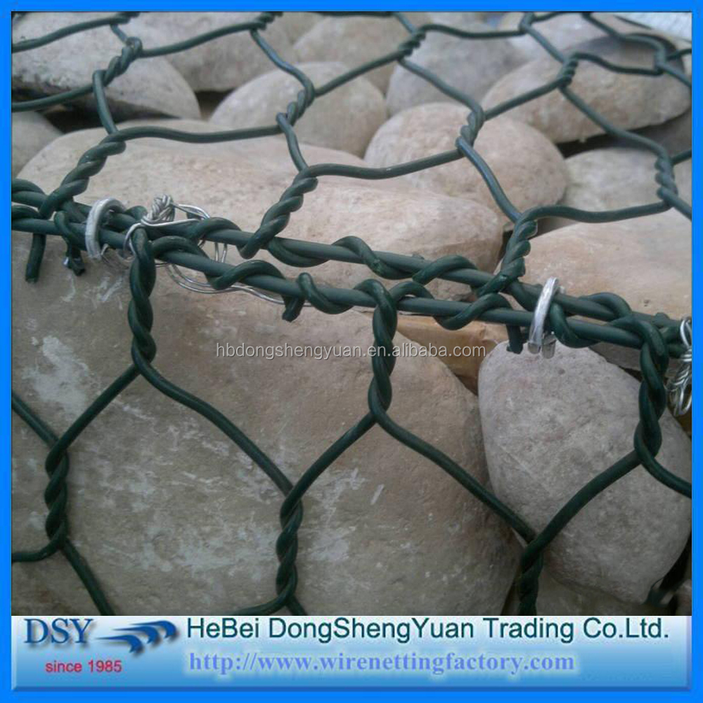 PVC Coated Gabion Box/high quality gabion baskets for Sale