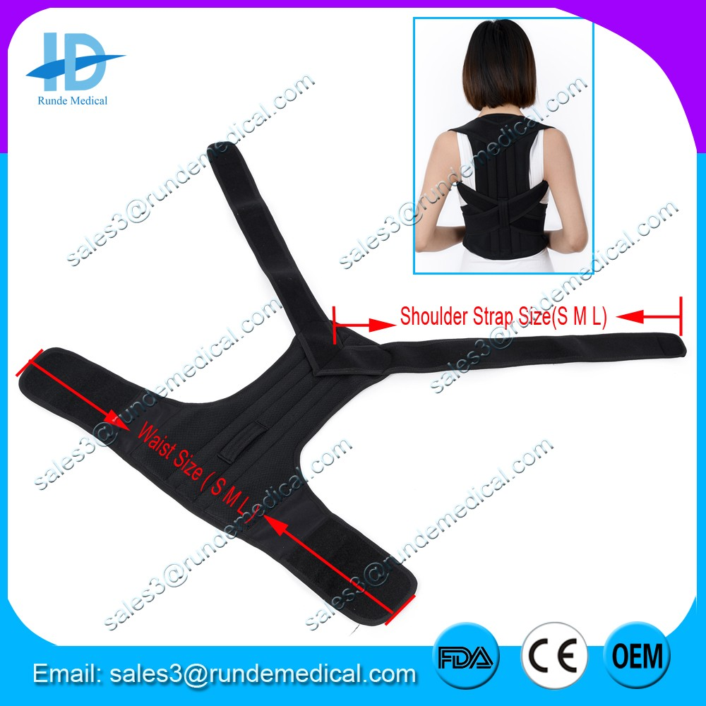 Runde Medical FDA CE Approved upper back support brace Back Posture Corrector