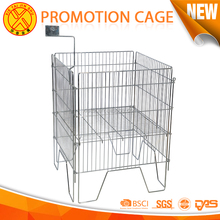 Supermarket Metal Foldable Promotion Cage stainless steel metal wire basket