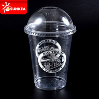 12oz 350ml Disposable printed transparent plastic cups for cold drinks