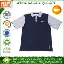 Machine washable short sleeves 100% cotton jersey men's polo shirt