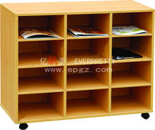 cheap wooden storage cabinets with wheels / casters