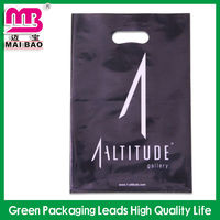 cheap wholesale printed plastic die cut bag for clothes packing