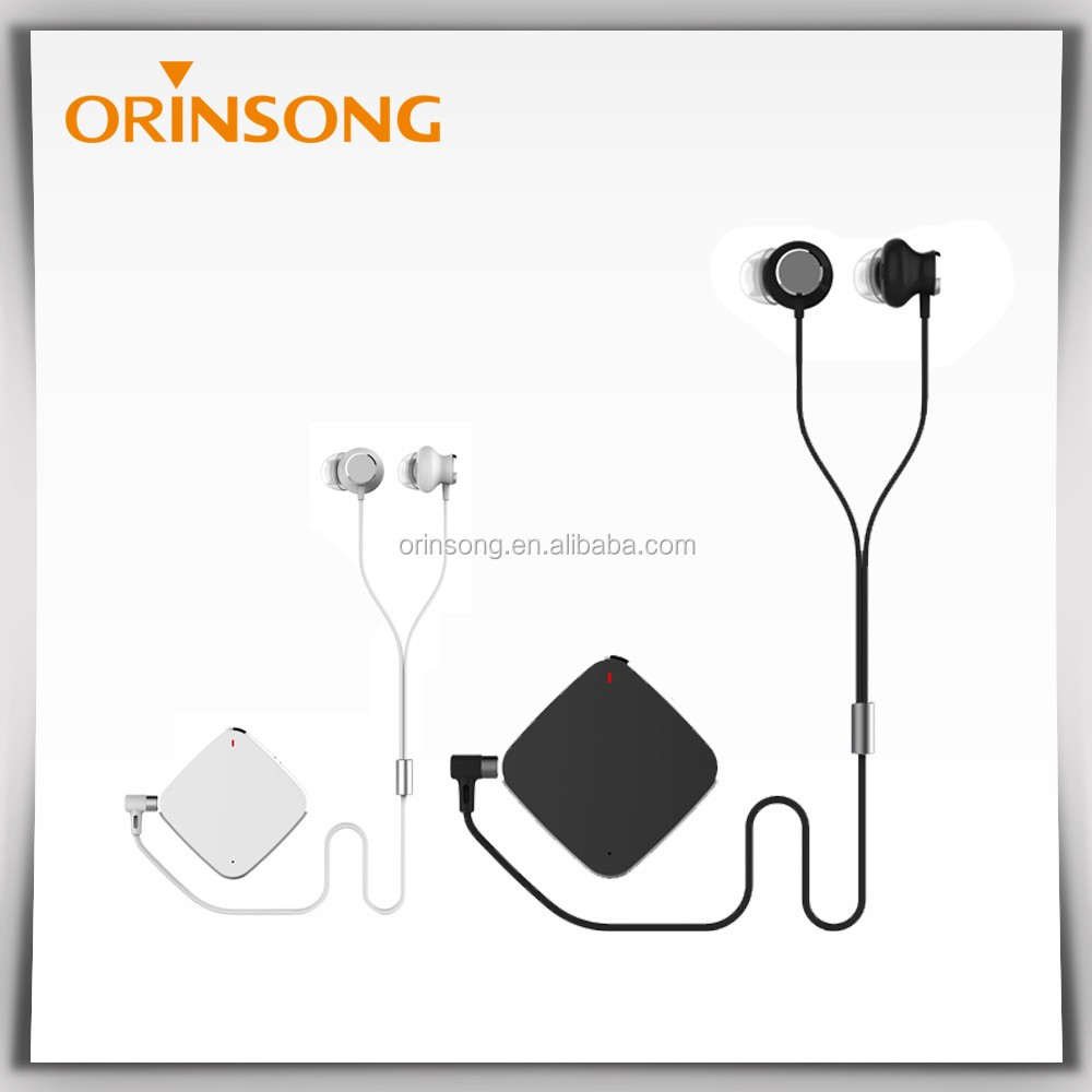 Clip-on Bluetooth Stereo Earbuds, Wireless Mini Bluetooth Earbud for Music