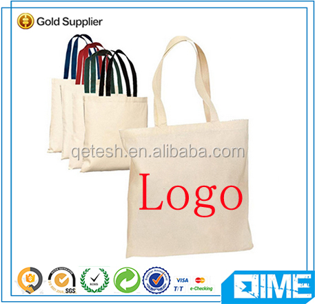 Online shopping canvas tote organic cotton bag for shopping