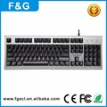 New style wired gaming keyboard led blue night keyboard laser gaming keyboard