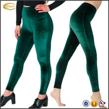 OEM wholesale Women's Elastic waistband Riding slightly higher on the waist Stretch Velvet fitness leggings