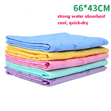 China suppliers eco-friendly synthetoic chamois ocean animal design embossed pet drying cloth