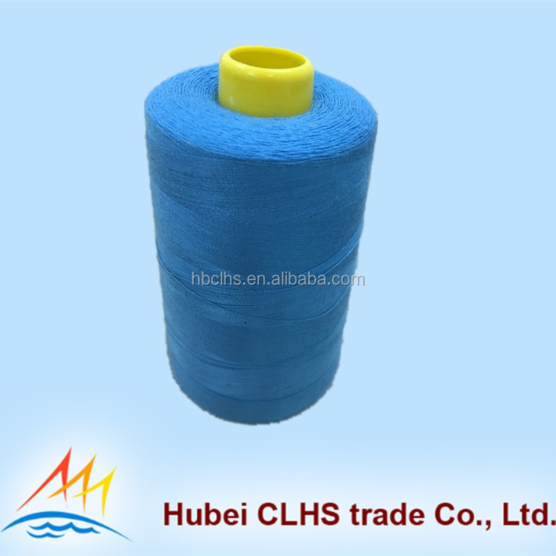 Colorful 100% SPUN POLYESTER dyeing sewing thread 12s/2 with 1kg/cone import from china