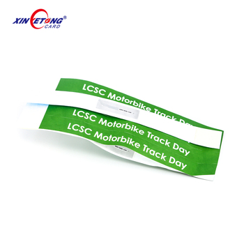 Disposable Paper ISO14443A NDEF NFC Wristband